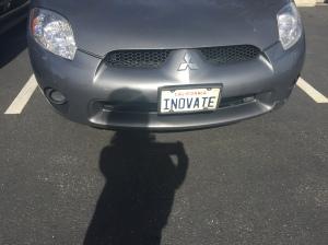 Inovate license plate